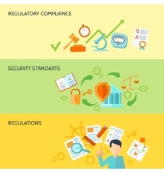 Compliance banner set vector