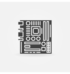 Computer motherboard icon or logo vector image