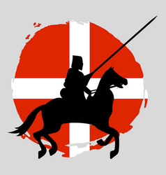 England knight warrior silhouette on white vector
