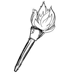 flambeau vector image