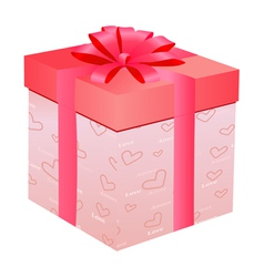 gift for Day of Valentine vector image vector image
