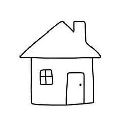 Home icon - sketch hand drawn vector