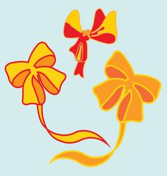 Image of a beautiful festive ribbons vector