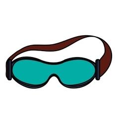Isolated glasses of winter sport design vector