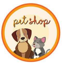 Label design for petshop vector