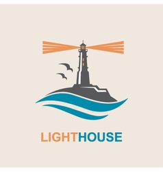 lighthouse icon design vector image