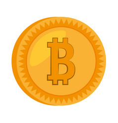 money bitcoin golden icon vector image vector image