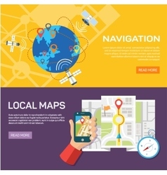Navigation and traveling Map pointer location vector image vector image