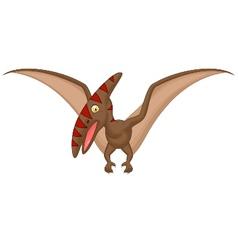 Pterosaurus cartoon vector image vector image