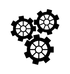 Silhouette gear wheel engine cog icon vector