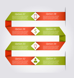 Snake infographic template vector image vector image