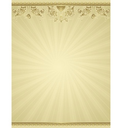 yellow antique background vector image vector image