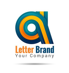 Business corporate letter a logo design template vector
