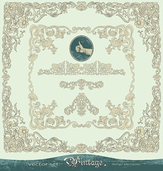 Vintage ornate frames ornaments vector image