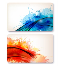 Collection of colorful abstract watercolor vector image