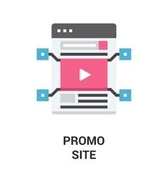 Promo site icon concept vector