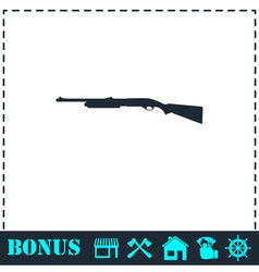 Shotgun icon flat vector