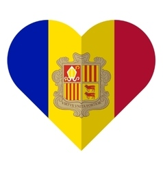 Andorra flat heart flag vector