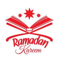 Ramadan kareem islamic koran vector