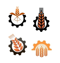 Agriculture icons and smbols vector image