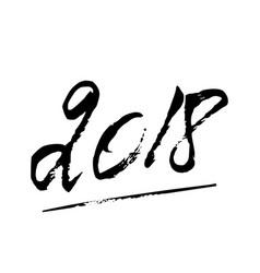2018 hw lettering vector image
