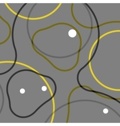 Abstract modern background of lines and balls vector