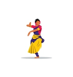 Hindu girl sign brunette indian dancer princess vector