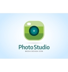 Photo camera icon template photographer logo vector