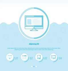 Computing concept design template blue color vector