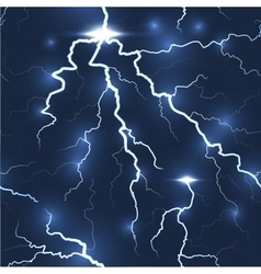 Lightning flash strike seamless dark background vector