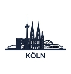 Cologne skyline emblem vector