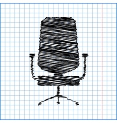 Office chair icon isolated vector