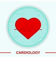 Cardiology color icon vector