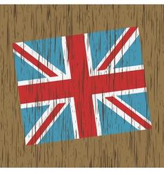 uk flag on wood vector image