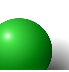 Abstract minimal frame with green ball vector