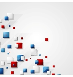 Blue and red squares background vector image