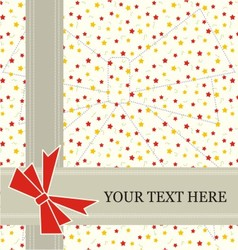 star invitation card vector image