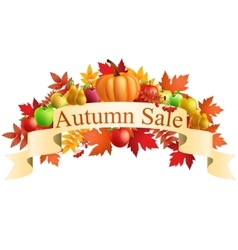 Autumn sale banners with multicolor autumn leaves vector image vector image