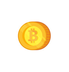 Bitcoin icon crypto currency flat vector