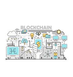 Blockchain technology process concept vector