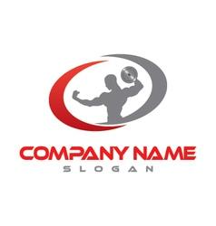 bodybuilder logo vector image vector image