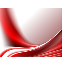 Bright red wavy background vector