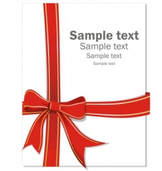 Gift ribbon vector