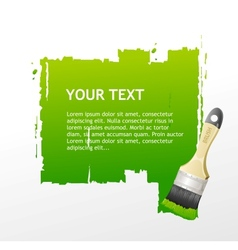Green Brush speech bubble vector image