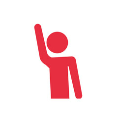 Human hand up symbol vector