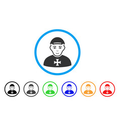 Maltese cross awarded man rounded icon vector