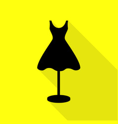Mannequin with dress sign black icon with flat vector