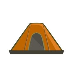 Orange tarpaulin camping tent vector