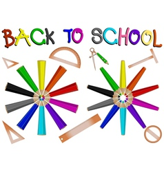 pencil school vector image vector image