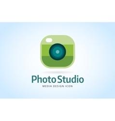 Photo camera icon template Photographer logo vector image
